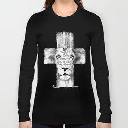 Lion Cross jesus revelation Long Sleeve T-shirt
