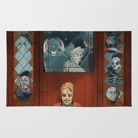 halloween Area & Throw Rugs featuring Halloween by Steven P Hughes