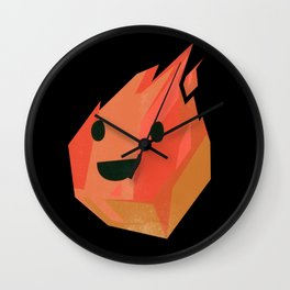 Fireball! from Elementary Characters Wall Clock
