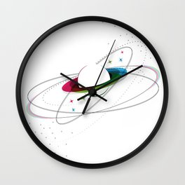 Prismatic Planet Wall Clock