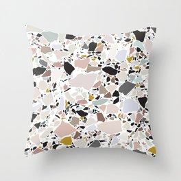 Terrazzo Pattern II. Throw Pillow