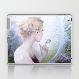 Dream of gentleness - princess in royal garden Laptop & iPad Skin