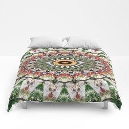 Lovely healing Mandala in brilliant colors Comforters