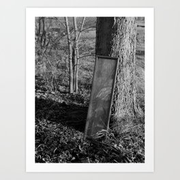 Mirror by Tree. Art Print