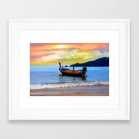 thailand Framed Art Prints featuring  thailand by mark ashkenazi