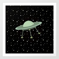 ufo Art Prints featuring UFO by Mr and Mrs Quirynen