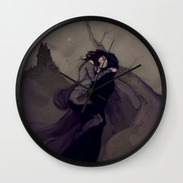 The Darkened Plain Wall Clock