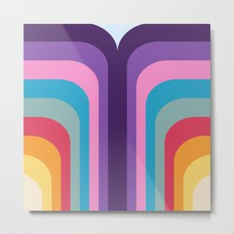 Retro Rainbow 02 Metal Print