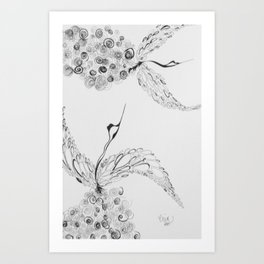 Birds Of A Feather Fly Art Print