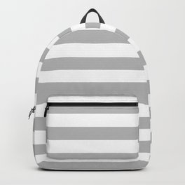 Gray and White Stripes Backpack