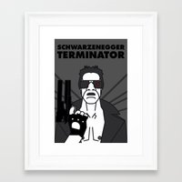 terminator Framed Art Prints featuring TERMINATOR by Javi Medina