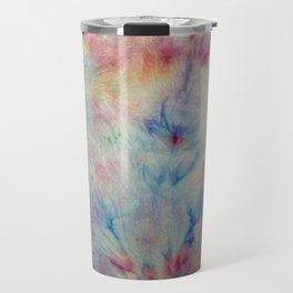 Tye Dye Kaleidoscope Sunset Travel Mug
