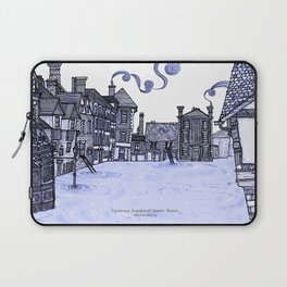 Victorian Frankwell Under Water, blue Laptop Sleeve