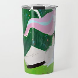 Samurai In Spring Travel Mug