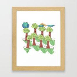 TREES UNDER THE CLOUNDS Framed Art Print
