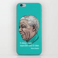 mandela iPhone & iPod Skins featuring Mandela by Fortissimo6