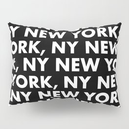 New York, NY Graphic Pattern 121 Black and White Pillow Sham