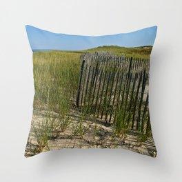 Cape Cod Beach Dunes Throw Pillow
