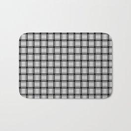Small Light Gray Weave Bath Mat