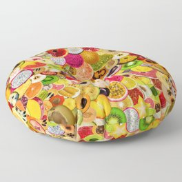 Fruit Madness (All The Fruits) Floor Pillow