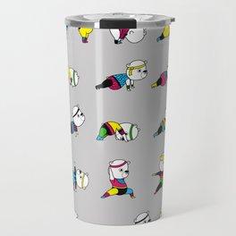 Yoga Bear - 80's Remix Travel Mug