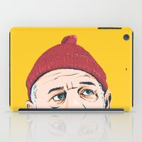 zissou iPad Cases featuring Steve Zissou by Jeroen van de Ruit