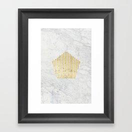 penta gOld Framed Art Print