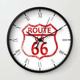 Route 66 Stamp Wall Clock