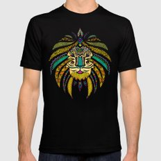 Emperor Tribal Lion Black Mens Fitted Tee MEDIUM