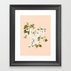 Peachy Keen : Peach Framed Art Print