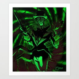 Oswald the Outrageous Art Print