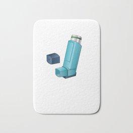 Funny Inhaler Asthma Nurse  product Bath Mat