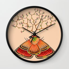 tree moth (ORIGINAL SOLD). Wall Clock
