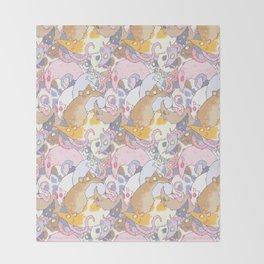Fancy Rat Pattern Throw Blanket
