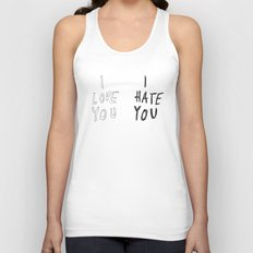 I LOVE YOU \ I HATE YOU Unisex Tank Top