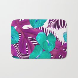 Anthurium purple Bath Mat