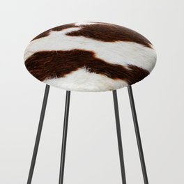 Cowhide Brown Spots Counter Stool