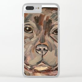 Sallie the dog Clear iPhone Case