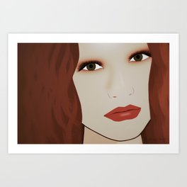 Red Head from Another Dream Art Print