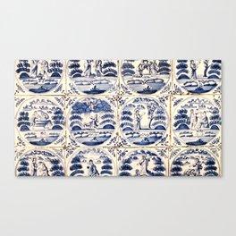 Dutch Delft Blue Tiles Canvas Print