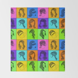 60s hairstyles Throw Blanket