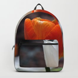 Red and White Tulip Backpack