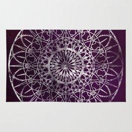 Fire Blossom - Violet Rug