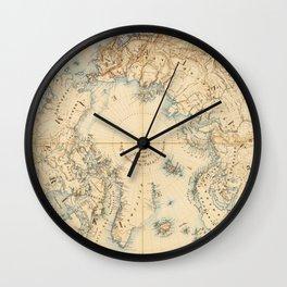 Map of the Arctic and Adjacent Regions (1855) Wall Clock
