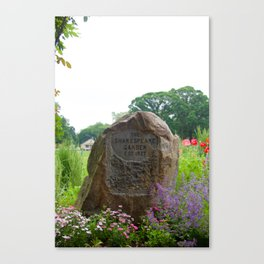 Shakespeare Garden 13. Stone Canvas Print