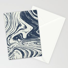 Blue marble abstract texture Pattern Stationery Cards