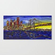 Philly Skyline with Ben Franklin Bridge Canvas Print