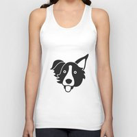 border collie Tank Tops featuring Border Collie by anabelledubois