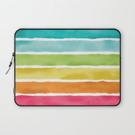 Watercolor Rainbow Stripes Laptop Sleeve