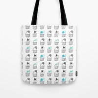 cupcakes Tote Bags featuring Cupcakes by Anchobee